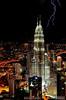 Petronas Towers Lightening Strike - Kuala Lumpur, Lightning