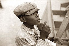 County-Black-Fair-Boy picture of At the Greene County fair, Greensboro, Georgia. It was created in 1941
