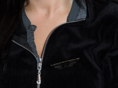 neck, textile, leather jacket, clothing, leather, outerwear, jacket, zipper,