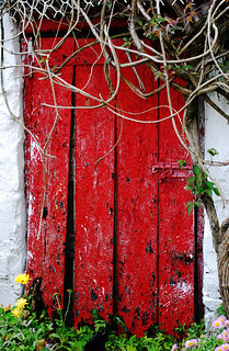 Old cottage door in Ireland