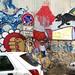 street art with trash by frahnkenshteen