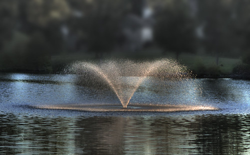 sunset sunlight lake water fountain drops 2010 abigfave 2010lhb