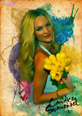 flower, yellow, album cover, poster, illustration,