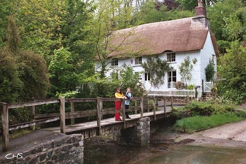 Foot-Bridge at Helford Village, Cornwall, Helford River by Stocker Images