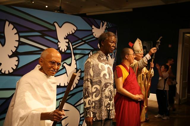 Ghandi, Mandela, Dalai Lama