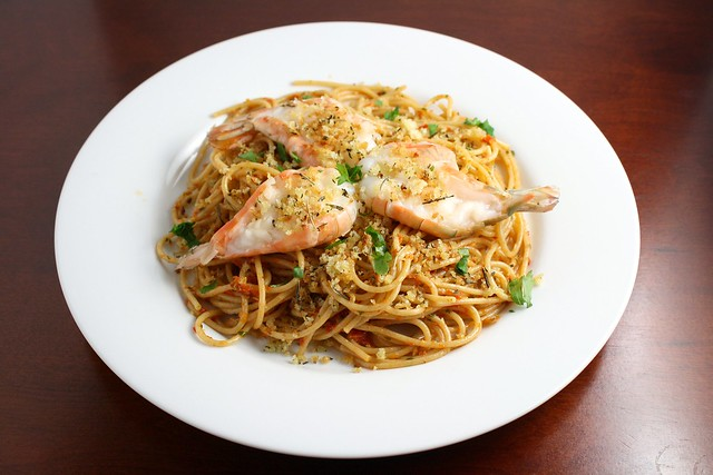 Red Pistou Pasta with Shrimp and Herbes de Provence Crumbs | Flickr ...