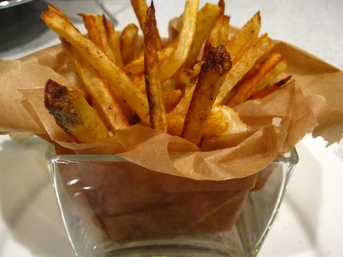 Vegan chili lemon baked french fries