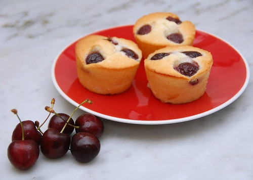 cherry coconut friands
