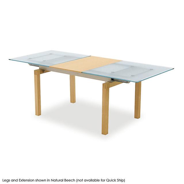 Rectangular Extendable Dining Table: Calligaris Motion Rectangular Glass And Wood Extendable