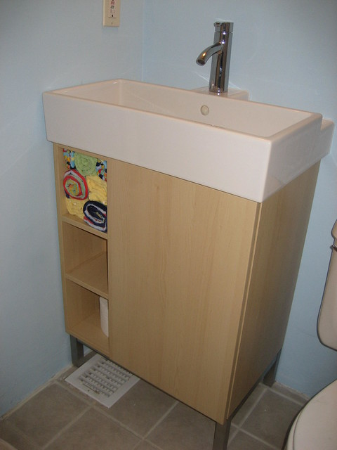 Replacing A Pedestal Sink With A Vanity : new vanity - Ikea Lillangen Flickr - Photo Sharing!