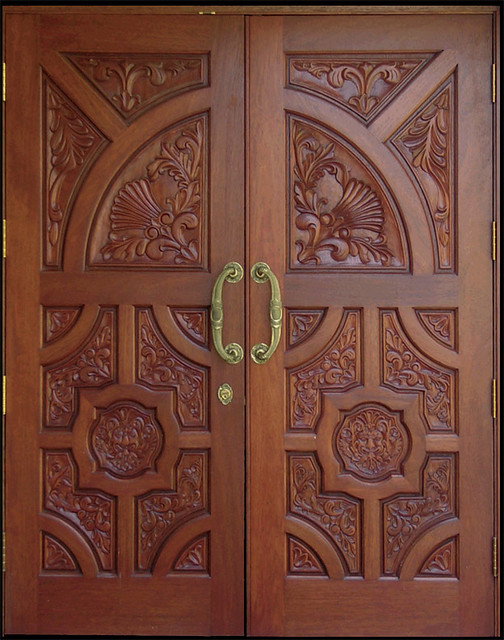 Custom mahogany carving doors flickr photo sharing for Wood door design 2016