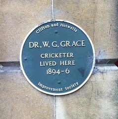 Photo of W. G. Grace blue plaque