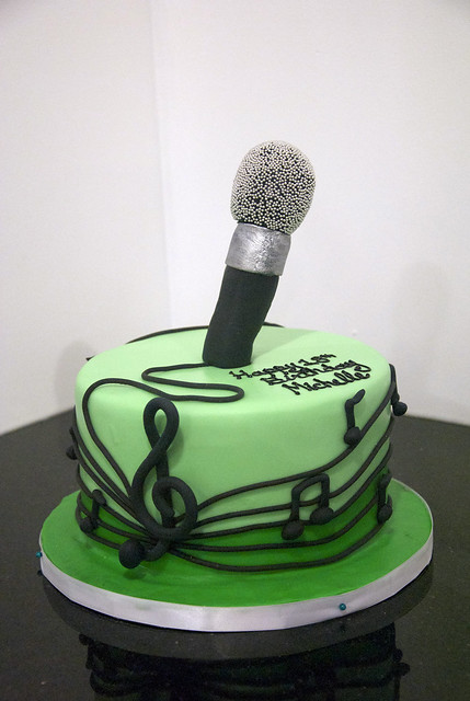 Microphone Cake Flickr Photo Sharing