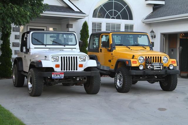 Jeep Wrangler Tj >> Jeep Wrangler TJ vs YJ Comparo | Flickr - Photo Sharing!