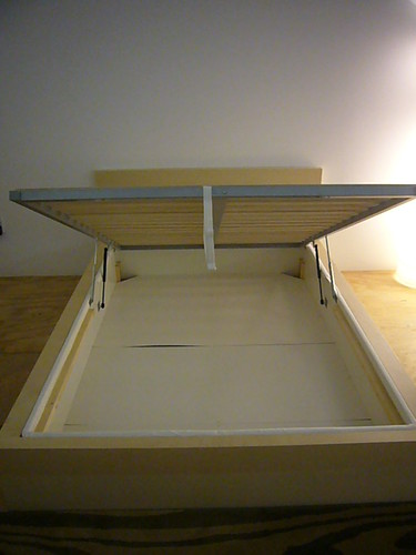 Ikea hack malm w storage boxspring heath the b l t boys for Ikea bed with box spring