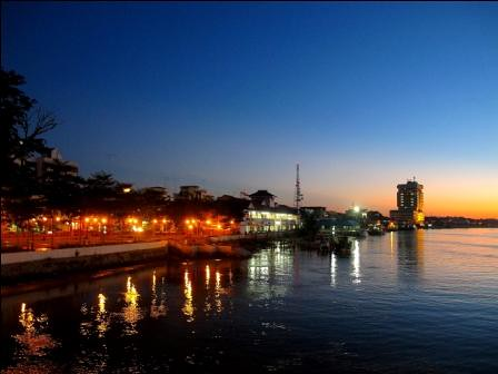 sunset night malaysia johor muar bandarmaharani tfltfl