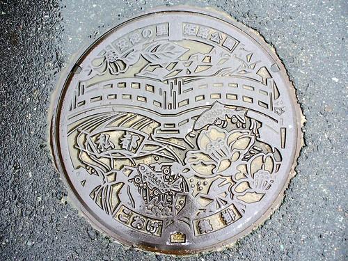 Koge tottori,manhole cover 2(鳥取県郡家町のマンホール2)