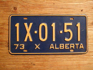 ALBERTA 1973 ---X-RESTRICTED COMMERCIAL VEHICLE 1X0151