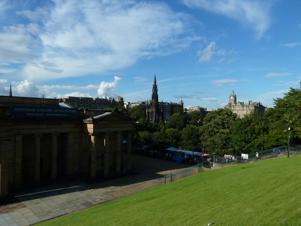 Scottish National Gallery and Scott Monument from the Mound 2
