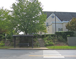 senior center bus stop outside cville