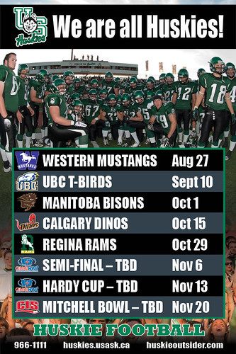 HUSKY FOOTBALL SCHEDULE