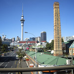 Sky Tower and Victoria Park Market, Auckland