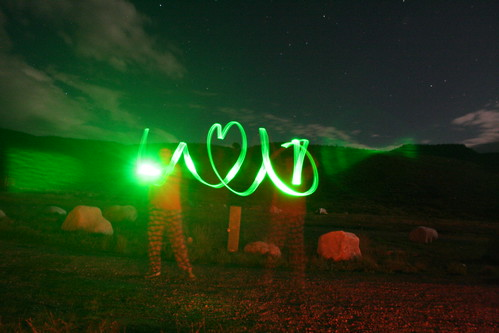 Jake and Coleman having some open shutter camping fun!
