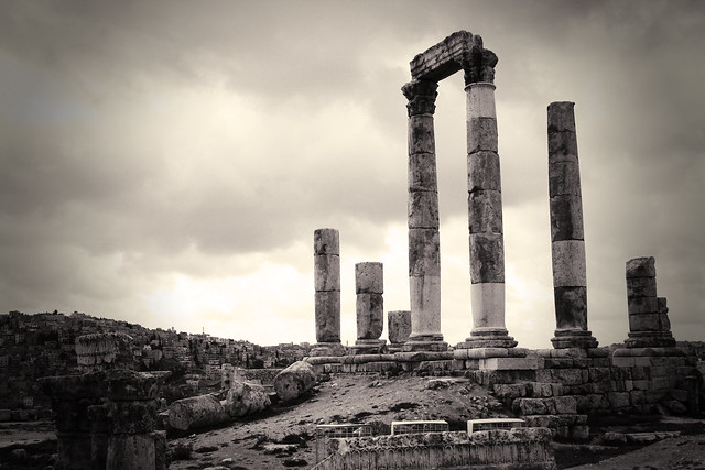Cloudy day in Amman, Jordan