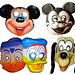 Disney Type Creepy Mouseketeer Masks 0131