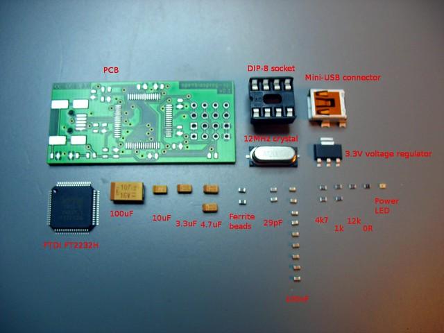 openbiosprog-spi assembled device 0.1 parts