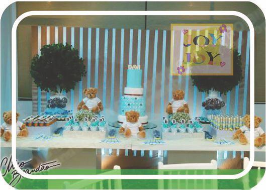 Mesa Chá de Fralda - Forminhas para cupcake