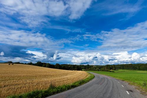 road blue sky cloud white azul clouds skåne blauw sweden blu f10 bleu fields sverige blau 2010 moln eslöv fav10 billinge ef1740mmf4lusm canoneos5dmarkii skånelän ¹⁄₂₀₀sek