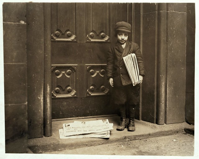 Newsboy, by Lewis W. Hine 1913 (New York or Pittsburgh)