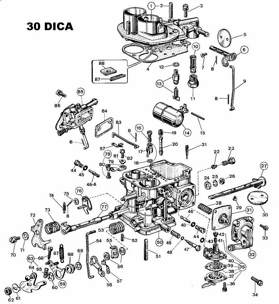 Weber 30 DICA Diagram