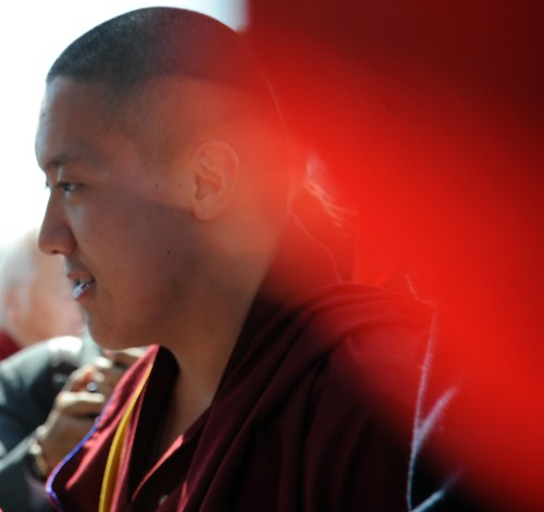 Piloting the ship we are on - Dilgo Khyentse Yangsi Rinpoche, 18 years old, off the Vancouver BC coast, Lotus Speech Canada by Wonderlane