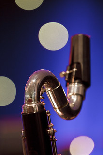 bass clarinet bokeh