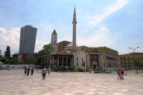 tirana albania skanderbeg square mosque