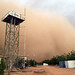A large dust storm, locally known as haboob, at UNAMID's headquarters in El Fasher, North Darfur.