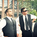 Small photo of Groomsmen on the Diag