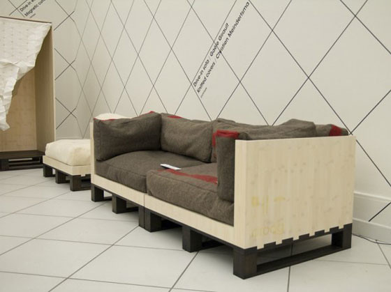 Drive-in sofa by Gaële Girault