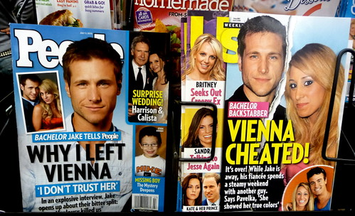 "Compare & Contrast:  ""People"" & ""Us"" Magazines, The ""Jake & Vienna From ""The Bachelor"" TV Series"" Issue"