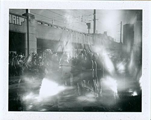 majorettes burning