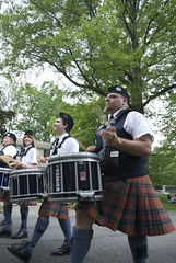 hand drum(0.0), bagpipes(0.0), musician(1.0), musical instrument(1.0), kilt(1.0),