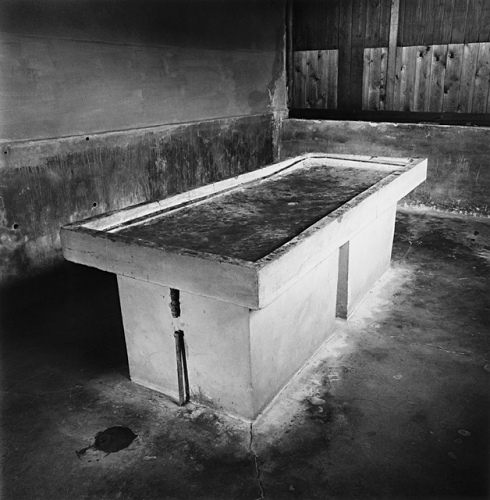 Dissection Table, Lublin-Majdanek, by Michael Kenna 1998