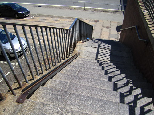 Bike rail, public stairs