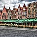 Mercado central – HDR en Brujas, Bélgica