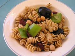 pasta salad, fusilli, pasta, food, dish, rotini, cuisine,