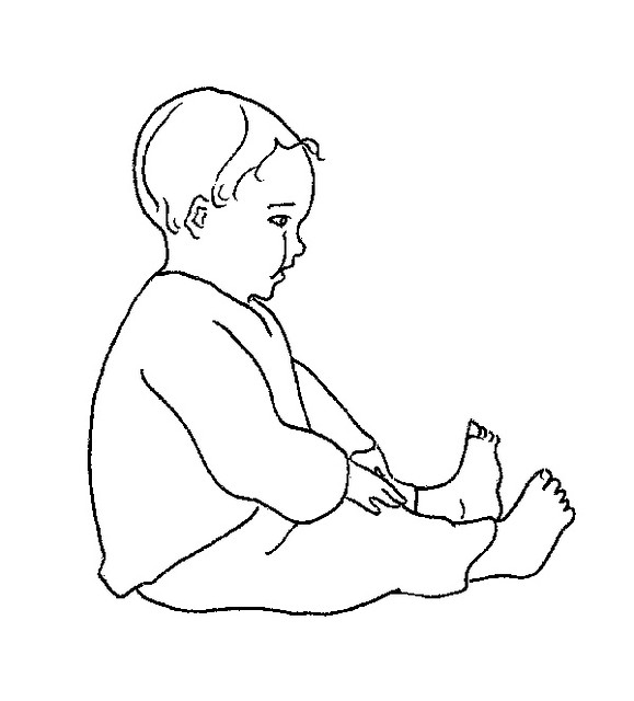 Line Drawing Baby : Baby line drawing