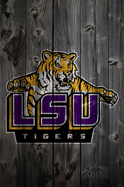lsu tigers alternate logo wood iphone 4 background