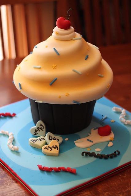 Finished Demo cake/Birthday cake